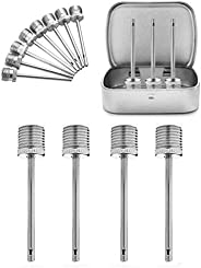 VIMILOLO Air Pump Needle,Dual-Port Inflation Needles,Pump Needle Adaptor for Football Basketball Soccer Ball V