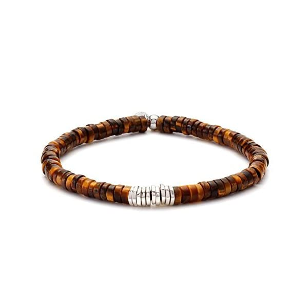 Tateossian-Tiger-Eye-Disk-Chunky-Beaded-Bracelet