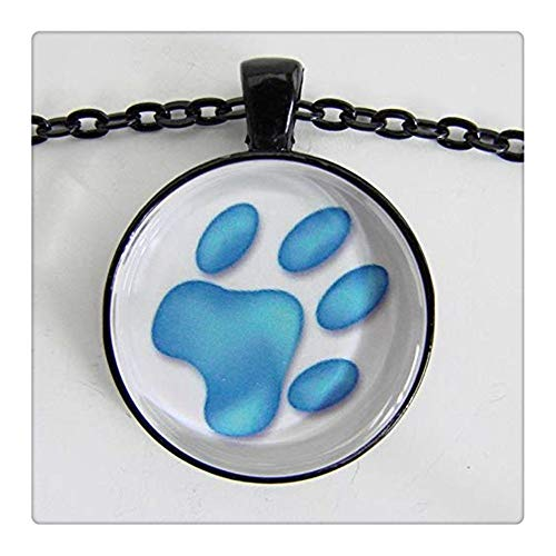 - Sunshine Dog's PAW Necklace in Blue and White, Puppy Dog Track, for Dog Lovers and The Young at Heart, Friendship Token