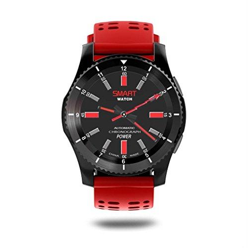 Bluetooth Smart Watch,Beautyjourney Montre Connectee Autonome GS8 ImperméAble à Leau GPS Smart Watch FréQuence Cardiaque Tension Montre Bracelet (Rouge): ...