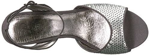 Astrid Papell pewter Sandal Women's Heeled dark sequins Adrianna wE1OAqn8