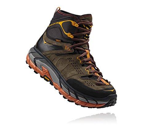 Men s Hoka One One Tor Ultra Hi Waterproof Hiking Boot Black Olive/Autumn Glaze Size 11 M US