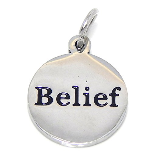 ICYROSE Stainless Steel Dangling Belief Plaque Charm Bead 123 for European Snake Chain Bracelets
