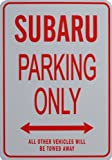 SUBARU PARKING ONLY - Miniature Fun Parking Signs - Ideal Gift for the Subaru Enthusiast