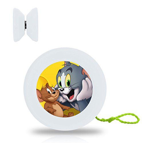 Cartoon Tom and Jerry DIY Child Small Professional Yo Yo Ball Unresponsive Yoyo Ball Bearing Axle and Extra String Office Hand Toy For Kids and Adults