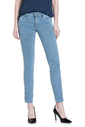 SALSA Pantalones capri Push Up Wonder cintura media con rayas