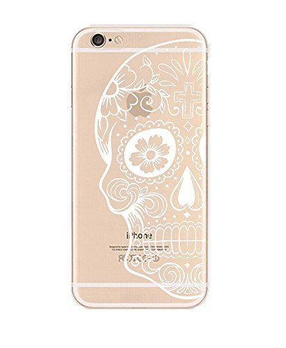 DECO FAIRY Designer Choice Collection Colorful Flexible Ultra Slim Transparent Translucent compatible with iPhone 5 / 5s / se Case Cover - Floral Sugar -