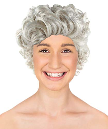 Halloween Party Online Mrs Claus Wig, White Adult