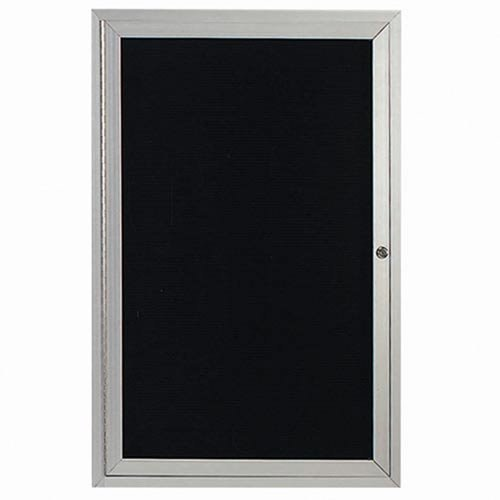 Aarco Products OADC4836I 48 in. H x 36 in. W 1-Door Illuminated Outdoor Enclosed Directory Board - Clear Satin Anodized (Directory Board Outdoor)