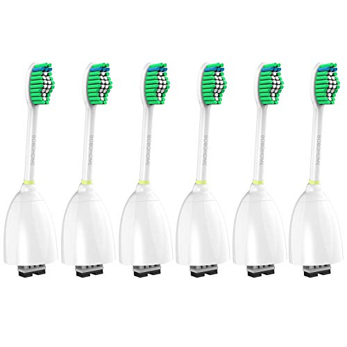 Replacement Toothbrush Heads for Philips Sonicare Essence E-Series HX7022/66 Sonic Electric Rechargeable Toothbrush, Fit Sonicare Essence, Advance, Xtreme, CleanCare (6 Pack)