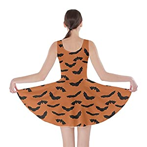 CowCow Womens Halloween Witches Cats Bats Skull Ghost Pumpkin Monster Skater Dress, XS-5XL