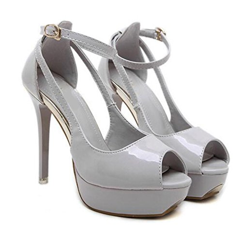 W&LM Mme Talons hauts Des sandales Plateforme étanche Bouche de poisson Vide Des sandales Bouche superficielle Chaussures individuelles apricot