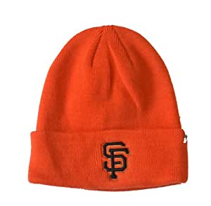 Amazon Com San Francisco Giants Orange Cuffed Beanie Hat