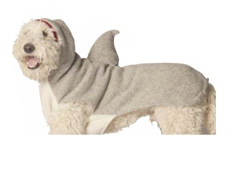 Chilly Dog Shark Hoodie Dog Sweater, Medium by Chilly Dog