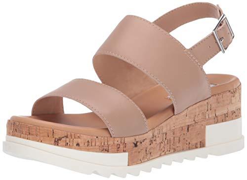 Steve Madden Women's Brenda Sandal, Natural Leather, 7.5 M US