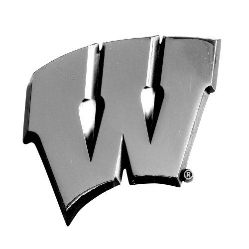Wisconsin Badgers Ncaa Peel - FANMATS 14935 NCAA University of Wisconsin Badgers Chrome Team Emblem