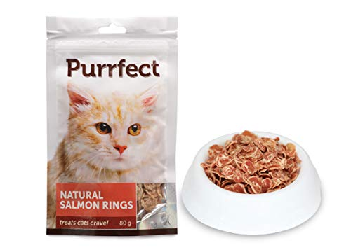 Petville, Purrfect CAT Treat, Flavor- Natural Salmon Rings, 80g