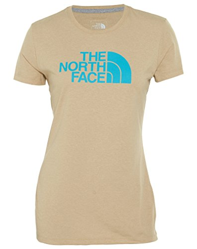 The North Face Half Dome Tee Womens Tnf Oatmeal Heather/Turquoise Blue 4UKnt6R7r