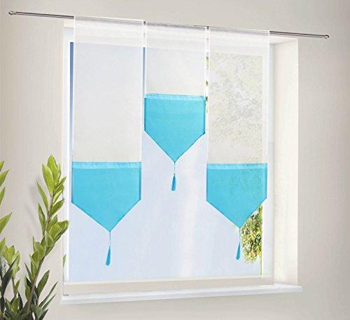 Amazon.de: Scheiben Gardinen Set bestehend aus 3 transparenten ...