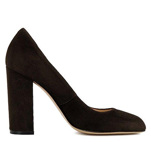 Ilenea scamosciata Donna scura Shoes Evita nSYwZzqq