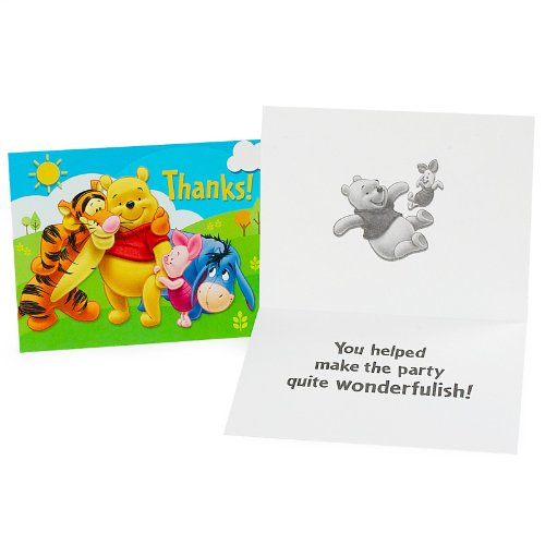 1THK2422 Winnie the Pooh Thank You Cards 8 Count Hallmark Party Express
