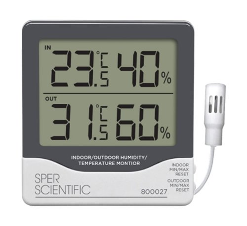 Sper Scientific 800027C Remote Relative Humidity (RH) Mon...