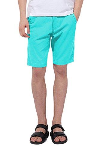 Pau1Hami1ton PH-01 Men's Classic Slim Fit Flat Front Twill Casual Short (32, Blue1)