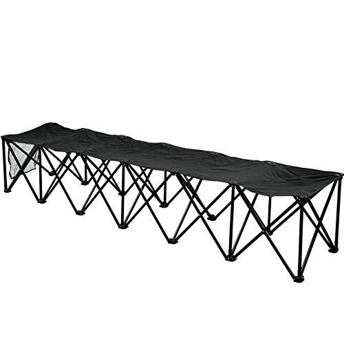 BenefitUSA 6 Seater Sideline Bench Portable Folding Team Sports Bench Sits Outdoor Waterproof, (Kwik Goal Bench)