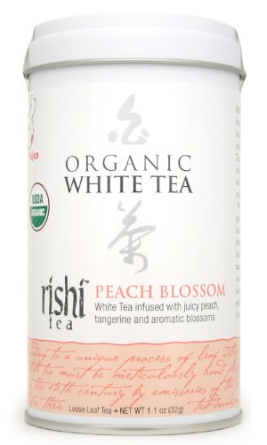 Rishi Tea Organic White Peach Blossom Loose Tea, 1.13-Ounce Box (Pack of 3)