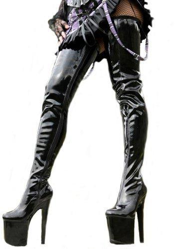 Erogance Patent Plateau High Heels Crotch Overknee Stiefel A3526L   Uk 4 by Erogance