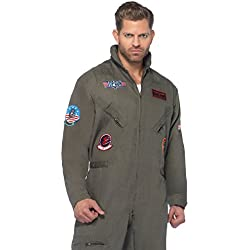 leg avenue mens top gun flight suit costume khakigreen x large