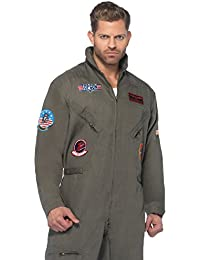 top gun mens flight suit adult costume