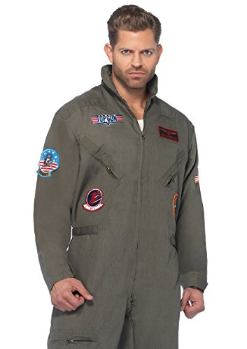 Leg Avenue Men's Top Gun Flight Suit Costume ()