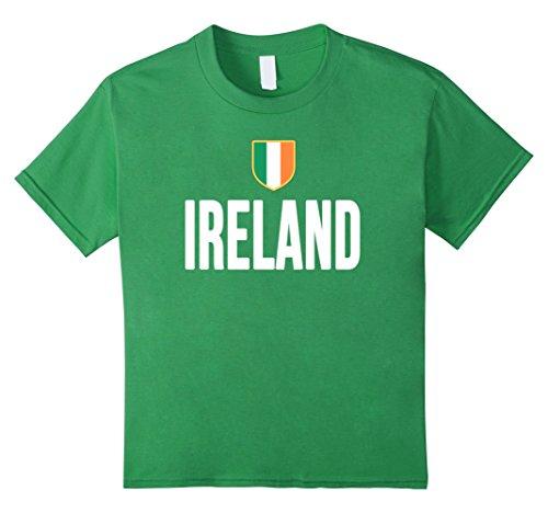 Kids IRELAND T-Shirt Irish Pride Flag Tee Soccer Football Rugby 12 Grass