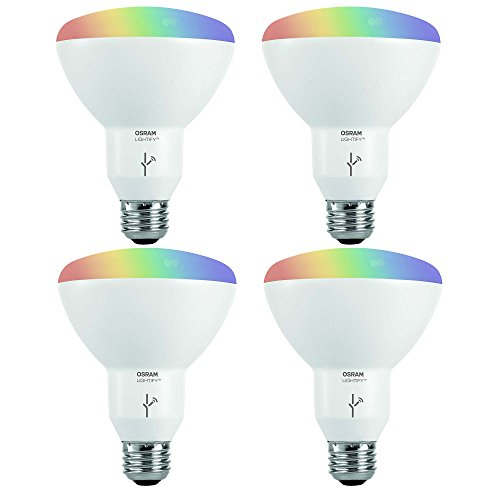 Sylvania Osram Lightify Smart Home 65W BR30 White/Color LED Light Bulb (4 Pack)(Needs Hub)