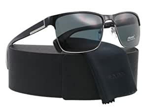 Prada Women's PR51OS-GAQ1A1 Black Square Sunglasses