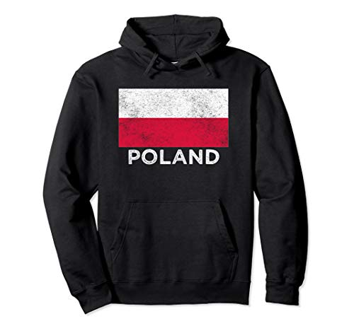 Poland National flag - distressed Hoodie for men & women