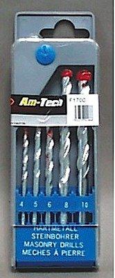 Amtech F1700 Masonry Drill Set, 5-Piece AM-F1700