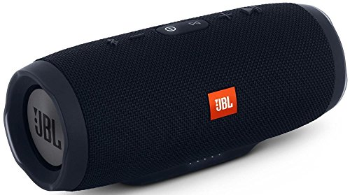 JBL Charge 3 JBLCHARGE3BLKAM Waterproof Portable Bluetooth Speaker (Black) (Best Music To Test Speakers Bass)