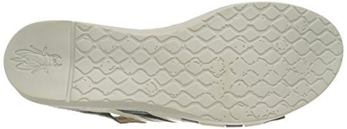 FLY London Womens Wynt874fly Flat Sandal, Black/Off White Mousse, 37 EU/6.5-7 M US