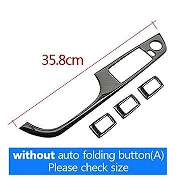 Carbon Fiber Interior Decoration Decal Frame Cover Trim for BMW 3 Series E90 E91 E92 E93 2004-2013 (Dashboard Air Vent Outer Trim 9SB, Black) RRX