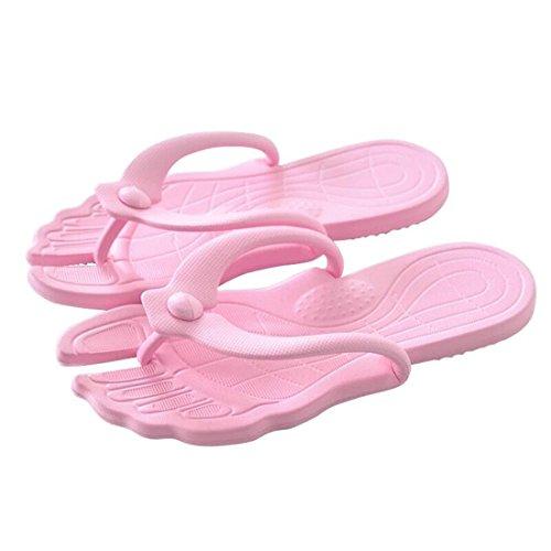 fuluomei - Sandalias de goma eva para mujer Rosa