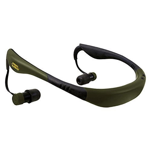 Pro Ears Stealth 28 - PEEBGRN - Electronic Hearing Protection & Amplification - NRR 28 - Behind The Head Ear Buds - Digital Earbuds, Green