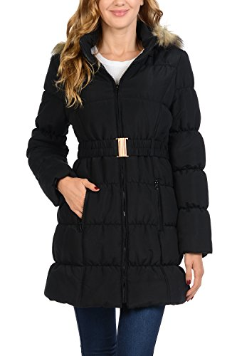 Fur Quilted Parka - 1