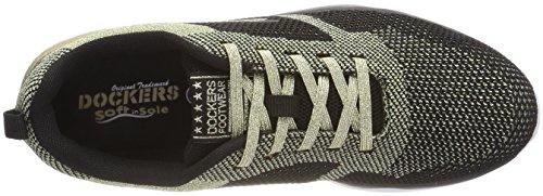 Dockers by Gerli 42ma204-700921, Sneakers Basses Femme, 42 EU Or (Gold/Schwarz 921)