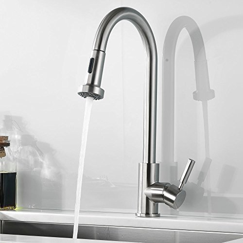 Kohler Barossa Kitchen Faucet: Comllen Best Commercial Single Handle Pull Out Sprayer