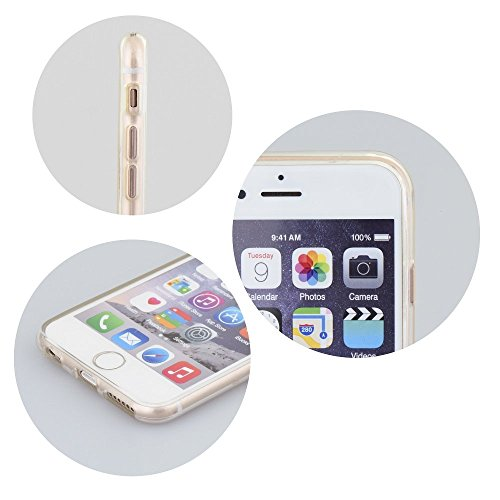 handy-point Ultra Dünn 0,3 mm Gummihülle Silikonhülle Hülle Silikon Gummi Schale für iPhone 7, Glasklar Transparent Durchsichtig
