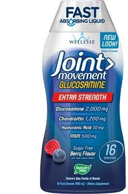 Wellesse Joint Movement Glucosamine Liquid Dietary Supplement 33.8 Ounce (2 Pack) ()