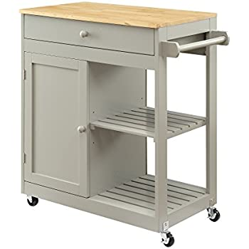 Exceptionnel Oliver And Smith   Nashville Collection   Mobile Kitchen Island Cart On  Wheels   Wooden Grey