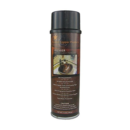 Premier Copper Products W900-WAX Copper Sink Wax Protectant, ()